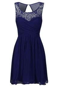 Evening blue bridesmaid dress