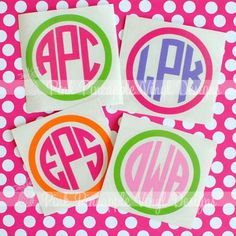 Monogram Decals, just need one for everything...