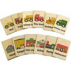 Teach & Play Tiles- Buildings & Vehicles