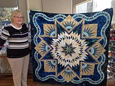 Glacier Star, Quiltworx.com, Made by Joan and taught by Australian CS Palm Beach Quilting.