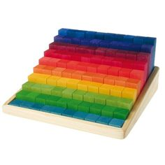 Grimms Stacking Wooden Math Blocks