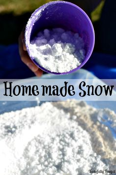Make homemade snow t