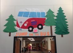 """Comstock Elementary wants you to, """"Jump on the bus!"""" Great job!"""