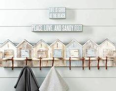 Nancy's bathroom- I have this one....beach house BIRDHOUSE  wall rack