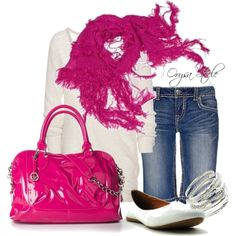 Hot Pink Princess, created by orysa on Polyvore