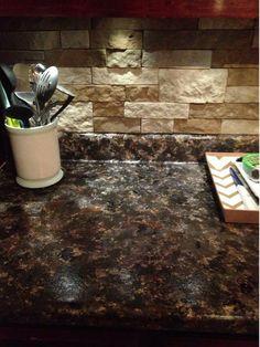 DIY- faux granite counter top