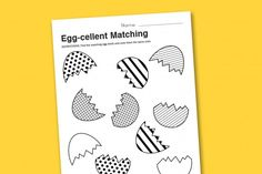 "Easter ""Egg-cellent"" Matching (free)"