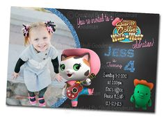 Sheriff Callie Birthday Invitations - printable - DIY - digital file (c02) on Etsy, $5.00