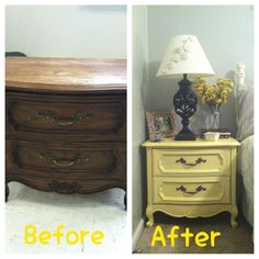 DIY Nightstand Re-do
