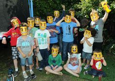 free printable Lego masks