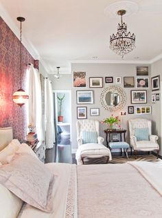 Dont-Miss Beautiful Bedrooms: Week Four My Bedroom Retreat Contest | Apartment Therapy chair, interior, bedroom retreat, photo walls, gallery walls, picture walls, bedrooms, picture frames, accent walls