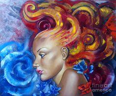 Pintura da menina - Girl Impressão Fine Art