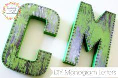 DIY Vintage Monogram Letters