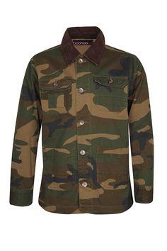 Cord Collar Camo Jacket   #camo #menswear #malefashion