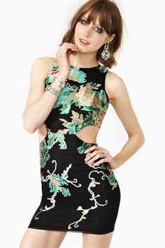 Silk Blossom Dress