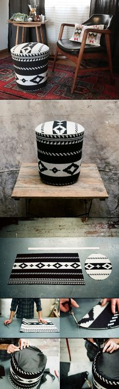 DIY: storage ottoman from a 5-gallon hardware store pail