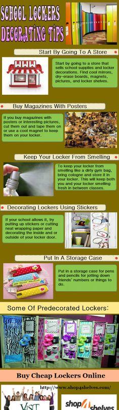 School lockers decorating tips
