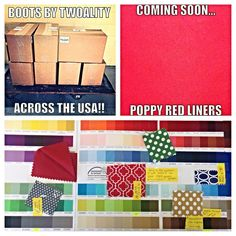 #Happy #TwoAlityTuesday!!!! Here is what we have been up to today.... Another wholesale order left the #TwoAlity warehouse, Poppy Red is entering liner production, and pattern #design/creation is in full swing!!!! #SmallBusiness #TwoAlity #BootsByTwoAlity Check out TwoAlity's #ClearBoots with interchangeable liners!!