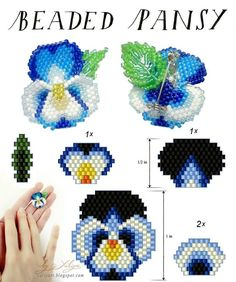 Pansy pattern #Seed #Bead #Tutorials