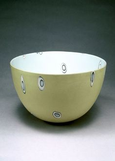 Susan Nemeth, press moulded bowl inlaid with coloured clays and slips