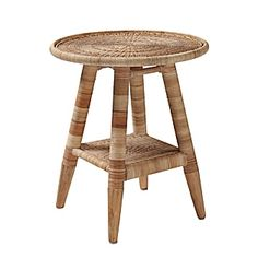 Natural Woven Side Table | Serena & Lily