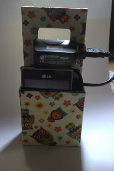 Cartonagem - Porta Celular Carregador