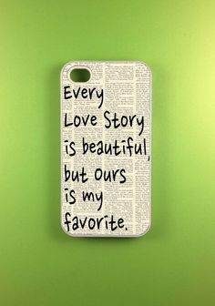 Iphone 4 Case - Our Story Iphone 4s Case, Iphone Case    @Savannah Hall Hall Hall Criddle thought bout you and Nick!!!!