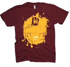 Redskins Burgundy and Gold Vampire tshirt