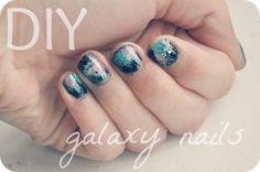 Galaxy/nebular nails DIY