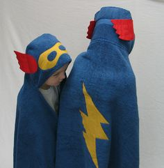 Blue SuperHero Hooded Bath Towel  Great Gift for by SDKdesigns, $32.00