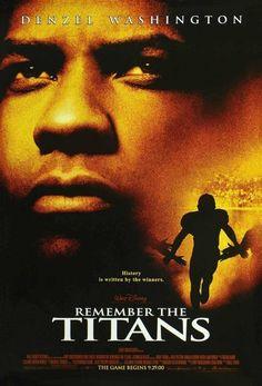 film, football players, messag, denzel washington, poster