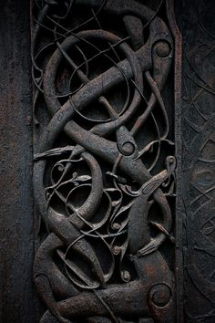 Urnes Stave Church Detail Carvings,  Norway c1132