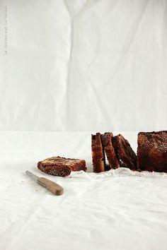 Cake marbré cacao & chocolat blanc