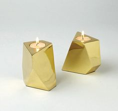 Funky Geometric Pattern Style for Modern Home Decor: Great Votive In Brass Modern Design Trend Spotlight Geometric Foms