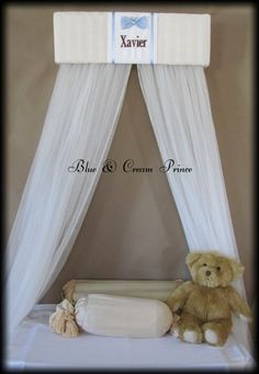 Boy Crib Prince Crown Canopy Padded Embroiderd by SoZoeyBoutique, $49.93