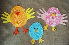 tissue paper Easter chicks