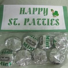 party favors, teacher gifts, treat bags, peppermint patties, gift ideas, candy favors, goodie bags, st patricks day, parti