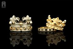 Wedding rings for king or queen #crown