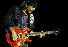 Carlos Santana. Longtime PRS (Paul Reed Smith) Guitar player.