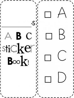 ABC Sticker Book to Record Letter Recognition product from No-Doubt-Learning on TeachersNotebook.com