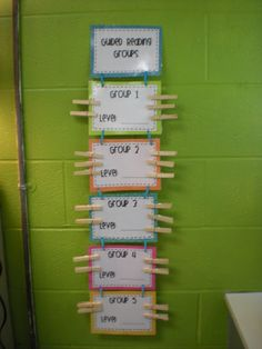 The Good Life: My New Classroom!  Guided Reading Groups Organization