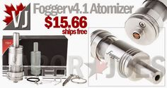Fogger v4.1 Styled Atomizer in Stainless Steel or Black Finish