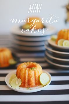Mini Margarita Cake Recipe - the best way to top off your Super Bowl Fiesta! Photography By / http://hellolovephoto.com,Stying By / http://stylemepretty.com