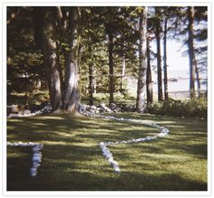 Rocks outline the ceremony spot. Beautiful!