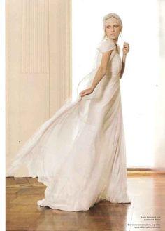 EMIRATES BRIDE COVER – A/W 2010 #bride #wedding #albertaferretti #editorial #magazine #fashion #white #dress #emirates