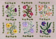 french needlework, herbier mediev, blanket stitch, mediev kit, crosses