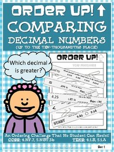 Order Up! Comparing Decimal Numbers
