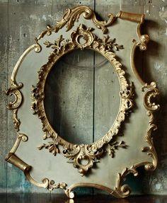 painted frames, vintage mirrors, baroque, colors, ducks, papers, aqua, sweet peas, antiques