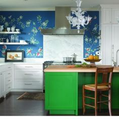 Wallpaper is back and better than ever. By: O Interior Design (Cultivate.com)