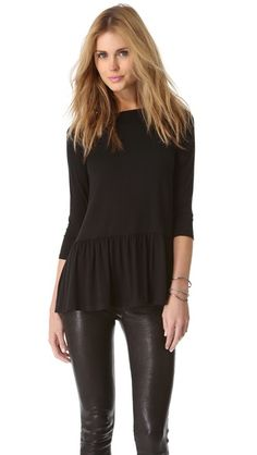 ruffled hem top / rachel pally